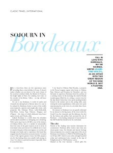 Sojourn in Bordeaux